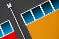 Rainpipe (HWHawerkamp) Tags: monselice italy industry architecture building facade colours graphics abstract travel