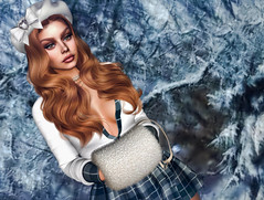 ❄️Baby Its Cold Outside❄️ (Sparkle Mocha) Tags: blogging blogger blog blogg secondlife firestorm 3d gamer slhair genushead mesh maitreya fashion sparklemocha longhair bento muff winter snow beret bow doux scandalize genus
