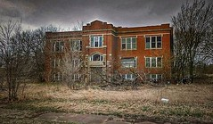 the mind is a terrible thing to waste... (BillsExplorations) Tags: abandoned abandonedschool kansas old closed forgotten ruins rural ruraldecay shuttered neglected decay