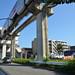 Tama Monorail Train Arriving at Koshu-kaido Station 4