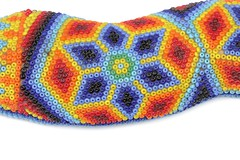 Close-up detail of a beaded Snake by the Huichol Indigenous Peoples of Northern Mexico-From the collections of Ardell Tharaldson. (Independent Picture Service) Tags: americanindian animal animals artarts artwork bead beadedartifact beading beads beadwork beeswax belief beliefs brightcolors closeup colorful craft crafted crafts culturalartifact culture custom customs design detail details embroidery ethniccustoms fulllength geometricdesigns glassseedbead glassseedbeads huicholindians huicholpeople indigenouspeoples isolatedonwhite jalisco mexico mexican nativeamerican nativeamericans nayarit nobody northamerica northamerican northernmexico oneobject pattern patterns serpent serpents snake snakes studioshot skill skills traditionalcrafts tradition traditional traditions visualarts wildlife wixaritari ardelltharaldson