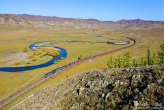 2TE116UM-014 UBTZ, Shatang – Mandal (Mongolia) (Martin Válek) Tags: mongolsko mongolei transmongolianrailway ulaanbaatarrailway rail railway railroad train locomotive zug eisenbahn vlak železnice kharaa