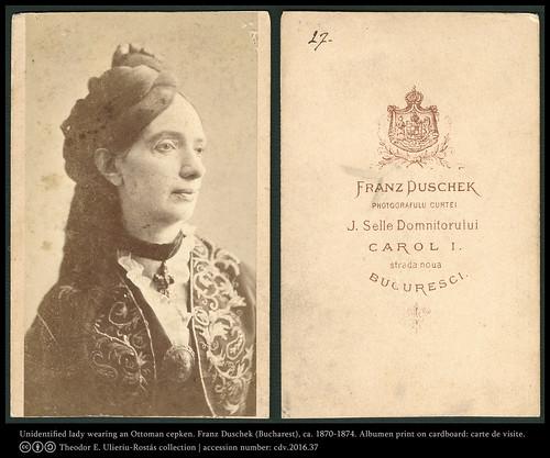 Portrait of an unidentified lady wearing an Otoman cepken (?)