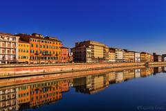 Lungarno di Pisa (3) (Eugenio GV Costa) Tags: approvato lungarno pisa fiume arno toscana acqua water river streets outside