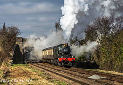 7802 | Woodthorpe | 30th Jan '19 (Frank Richards Photography) Tags: bradley manor gcr 30th january 2019 tle charter timeline events great central railway rail woodthorpe locomotive gwr western winter nikon d7100 uk england mark1 coach steamy svr