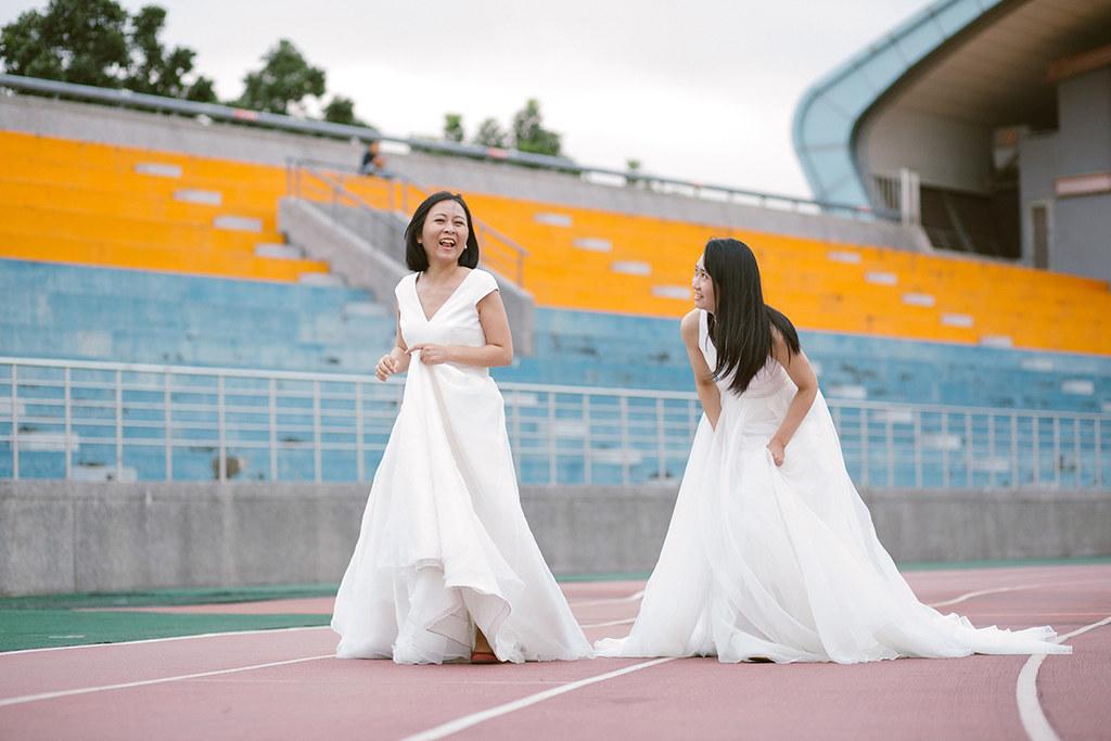 自助婚紗,輕婚紗,單人婚紗,全家福,女攝影師,自然風格婚紗,底片風格,雙子小姐