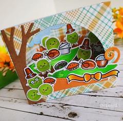 Hap-pea Thanksgiving! (Cicasi) Tags: cardmaking handmadecard shadowbox lawnfawn lawnfawnatics happea