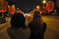 Gazing at Christmas lights (jeangrgoire_marin) Tags: noel christmas light ladies candids halfcandid pow perspective paris citylights