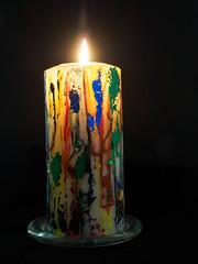 Christmas Candle-FB260214 (tony.rummery) Tags: candle christmas darkbackground em5mkii light mft microfourthirds omd olympus stilllife