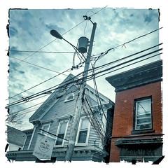 Plethora (Timothy Valentine) Tags: 1119 telegraphtuesday large lines sky buildings pole sign 2019 eastbridgewater massachusetts unitedstatesofamerica