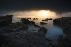 We never really know... (- A N D R E W -) Tags: seascape ocean sunset atardecer night dull moody dark atmospheric canon 80d rockpool rocks sun light luz water agua outdoors longexposure colors