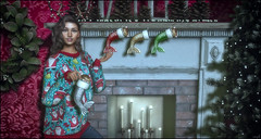 *What if Christmas, she thought, doesn't come from a store. What if Christmas, perhaps, means a little bit more* ❤️ (Ⓐⓝⓖⓔⓛ (Angeleyes Roxley)) Tags: black bantam merkitten christmas stocking sl secondlife arcade event mainstore kitten animal