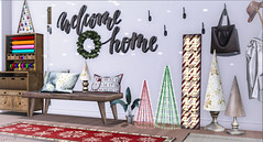 Home for the Holidays (AlyceAdrift) Tags: home holidays holiday christmas winter entry entryway doorway frontdoor onsu magnolia southernliving hohoho peaches snowflake spirit musicinspired secondlife secondlifeblogger decor blogger homeblogger homeanddecorblogger refuge chezmoi tuesdays