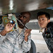 U.S., JSDF members perform thru-flight checks on an F-15C Eagle during an NCO Bilateral Exchange progra