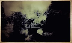 Going nowhere (pastadimama) Tags: abstractlandscape trees wood bridge landscape abstractnature surreal illusion abstract art abstractart goingnowhere