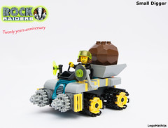 01_Small_Digger (LegoMathijs) Tags: lego moc legomathijs small digger rock raiders scifi space mining miners drill energy crystal tracks digging planet u 20 years anniversary