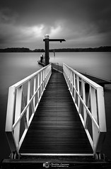 The Floating Jetty (Christian Lawrence Photography) Tags: monochrome long exposure chichester marina image stacking sony rx100 jetty water experiment