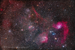Star Clusters and Nebulas in Auriga (Amazing Sky Photography) Tags: aeaurigae auriga borg77mm canon dewdestroyer eosra flamingstar ic405 ic417 ic510 littlefish m36 m38 messier ngc1893 ngc1907 ngc1931 pinwheel starshrink starfish asterism astrograph emission heater highpass nebula reflection