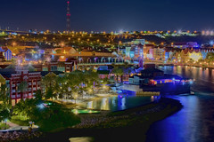 Willemstad, Curacao, Kingdom of the Netherlands (Photographer South Florida) Tags: willemstad curacao caribbean caribbeansea island tropical kingdomofthenetherlands colorfulbuildings beautifularchitecture queenemmabridge tourism mountains scenic colorful beautifuldestinations colonialarchitecture southerncaribbean southerncaribbeansea abcislands longexposure bluehour