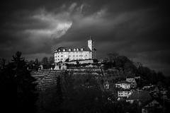 Castle Kaltenstein (Deepmike70) Tags: blackandwhite landscape castle kaltenstein sky clouds hill fortress germany city historic