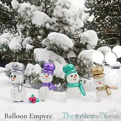 November 26, 2019 - Wintry characters and the snow. (Alondra Trevizo)