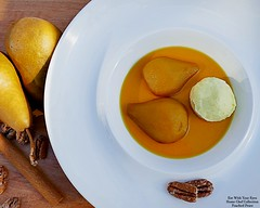 High End Desserts At Home (Eat With Your Eyez) Tags: poach poached pear pears fruit dessert cinnamon vanilla pecans honey brown sugar simmer cook kitchen cooking chef homechef plating styling delicious tasty elegant stylish high end specialty food porn foodporn foodpornography foodplating foodstyling foodphotography panasonic fz1000 outside natural light sunshine bowl