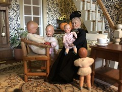 11. Busy Granny (Foxy Belle) Tags: caco doll dollhouse thanksgiving grandparent 112