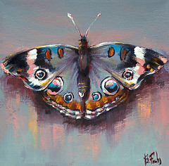 Butterfly art (bozhenafuchs) Tags: butterfly art artwork artistonflickr artonflickr artgallery painting paint beautiful grey junonia