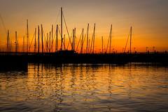 Rimini Port (Strocchi) Tags: sunset red sea port canon boats mare rimini barche porto adriatic 24105mm eos6dmk2 tramonto
