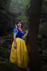 Snow White (blackietv) Tags: snowwhite princess dress full skirt gown petticoat romantic crossdresser tgirl crossdressing transgender costume cosplay outside