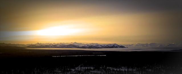 alaska alaskalandscape sunrise mountains mountain mountainpeaks jlsphotographyalaska chugachmountains forest landscape landofthemidnightsun dji mini mavic