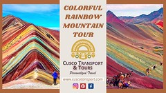 Spend a day hiking up to the beautiful Rainbow Mountain in Peru, known as Vinicunca to the locals. The day will start at a gorgeous little village with herds of llamas and alpacas nearby. It will then pass through a green valley, as we work our way up the (cuscotransportweb) Tags: rainbowmountain redvalley privatetours tourcusco cuscotransport cuscoperú travel machupicchu