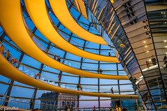 The Reichstag dome during Blue Hour (patuffel) Tags: the reichstag dome during blue hour berlin kuppel reichstagskuppel norman foster sir leica 28mm summicron m10