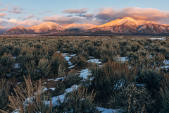 Alpenglow is great, snowy alpenglow is even better (M///S///H) Tags: 35mm rx1 bloodofchristmountains clouds elprado fullframe landscape mirrorless mountainrange mountains newmexico newmexicotrue nm outside pointandshoot rx1rii sagebrush snow sonnar sony sunset taos zeiss