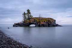 Hollow Rock Island Long Exposure (Walt Polley) Tags: 24120mmf4gednnikkor hollowrockisland hollowrockresort minnesota nikond500 northshore ©walterpolley