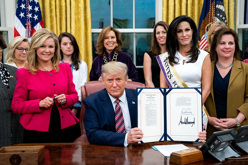 President Donald J. Trump signs H.R. 242 by The White House, on Flickr