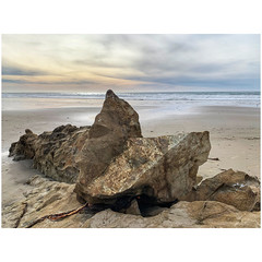 Beach sculpture (tahitihut) Tags: pacificcoast rockart california beach