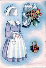 PRUDENCE GATHERING FLOWERS (Kleiaa) Tags: thanksgiving thankgivingpaperdoll pilgrim pilgrimpaperdoll paperdoll helenpage helenpagepaperdoll