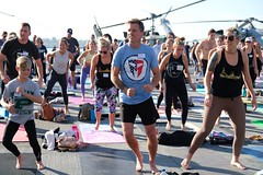 San Diego, CA Sweat for Service (Travis Manion Foundation) Tags: uss midway yoga tom storer