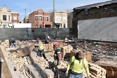 Tear down - Logan Square (BartShore) Tags: logansquare justphotos demolished city chicago