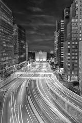 NYC Battery Tunnel BW (Susan Candelario) Tags: america batterypark brooklyn brooklynbatterytunnel buildings helix hughlcareytunnel longexposure lowermanhattan manhattan ny nyc newyork newyorkcity northamerica susancandelario us usa unitedstates unitedstatesofamerica architectural architecture beam beamsoflight bluehour cities city cityscape downtown highway light lightbeams lighttrails night nighttime remembrance road street structure traffic transportation tunnel tunnels twilight urban urbanlandscape urbanlandscapes