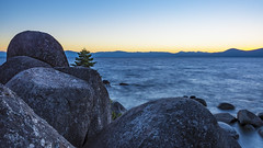 Lake Tahoe Sunset (ValeTer_) Tags: sky rock sea horizon ocean shore coast water morning promontory nikon d7500 lake tahoe usa nikond7500 landscape nevada sunset nature laketahoe