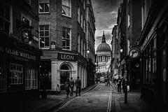 Watling Street (cliveg004) Tags: london ec4 watlingstreet stpaulscathedral bowlane street people city citylife cityoflondon bw blackandwhite monochrome mono nikon tamron1024 d7500 challengegamewinner