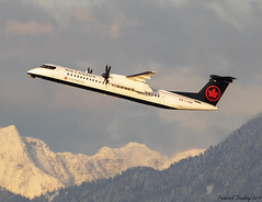 Air Canada Express / By Jazz Air / De Havilland Canada Dash 8-400 / C-GGNF / YVR (tremblayfrederick98) Tags: dehavilland goldenhour aviation avgeek avporn airplane aircanada planesspotting planes vancouver yvr takeoff jazzaviation q400