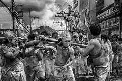 The Mood Of The 9 Emperor - Photo 24 (Mio Cade) Tags: nineemperor vegetarianfestival brother brotherhood phuket thailand ritual religion reportage monochrome men sedan heavy