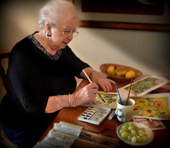 My Mum. (PentlandPirate of the North) Tags: mum mother painting watercolours parent respect love o