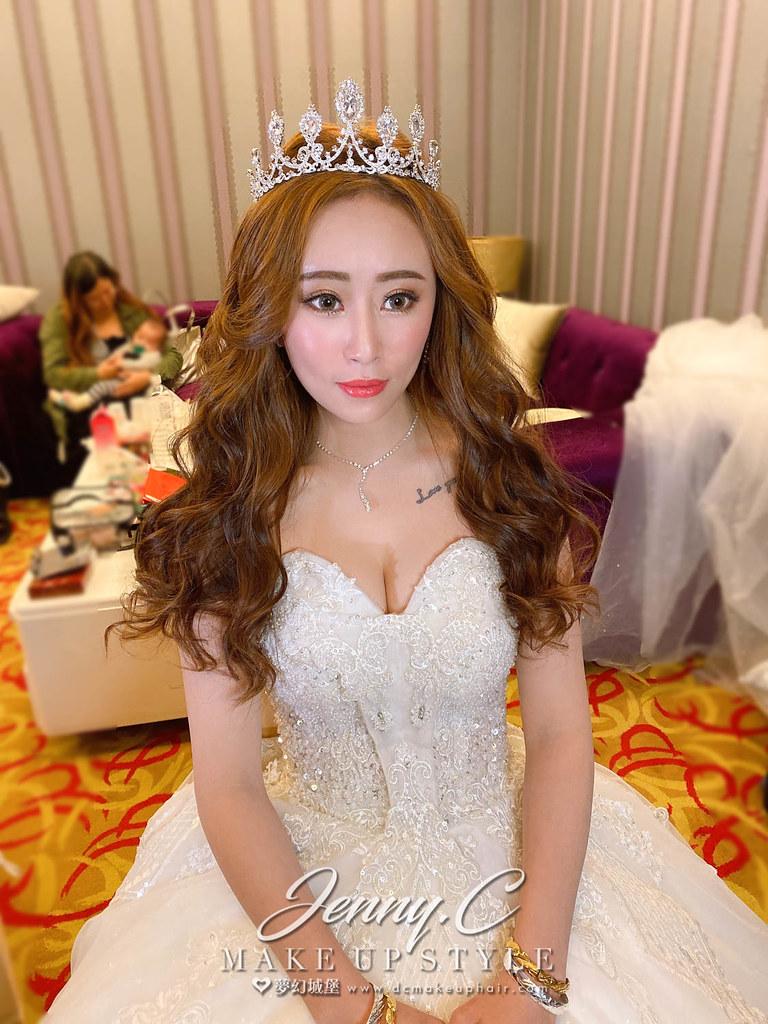 【新秘蓁妮】bride 郁琇 結婚造型 / 韓系,浪漫風