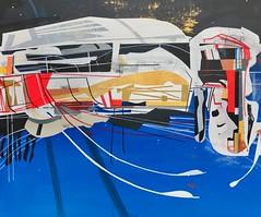 Jim Harris: Orbital IV. (Jim Harris: Artist.) Tags: art arte painting kunst konst peinture futurism futuristic future schilderij schoolofthemuseumoffinearts lartabstrait