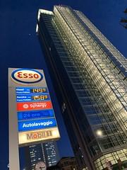 Esso Service station (Claudio e Lucia Images around the world) Tags: milano galfa galvani melchiorregioia esso servicestation fuel bluehour iphone iphonexmax