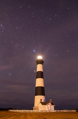 Bodie Lighthouse and the Pleiades (rex.on.life) Tags: astrophotography astronomy lighthouse ocean stars canon ioptron night nightsky longexposure rokinon bodie